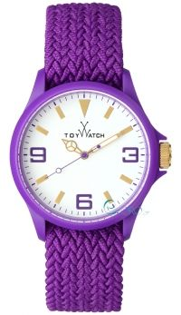TOY WATCH Saint Tropez Purple Fabric Strap ST07VL - http://rologia.org/toy-watch-saint-tropez-purple-fabric-strap-st07vl/