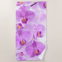Purple Orchids Beach Towel Flower Gifts Floral Flowers Diy Ipod Wallpaper Flower Wallpaper