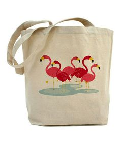 Love this Natural Flamingos Tote Bag on #zulily! #zulilyfinds