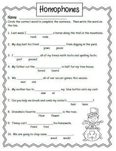 Smiling and shining in second grade: homophones grade worksheets, grammar worksheets, school Worksheets For Grade 3, English Grammar Worksheets, Free Math Worksheets, School Worksheets, Writing Worksheets, Printable Worksheets, Free Printable, Coloring Worksheets, Teacher Worksheets