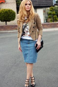 Классическая джинсовая юбка. Размеры выкройки 36-56 (Шитье и крой)   Журнал Вдохновение Рукодельницы