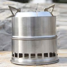 OFKP® Portable Stainless Steel Lightweight Stove Outdoor Cooking Picnic BBQ Camping ** Additional info  : Camping equipment