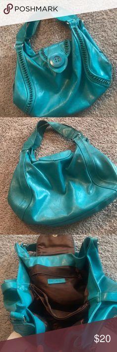 Woman's purse Unique turquoise leather Aldo bag. Used for a couple seasons but has a lot of life left. Aldo Bags Satchels