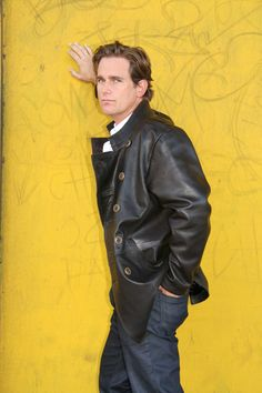 Handsome Phillip Keene models for leatherwaves