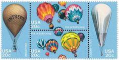 1983 20c Ballooning, Block of 4 Scott 2032-35 Mint F/VF NH