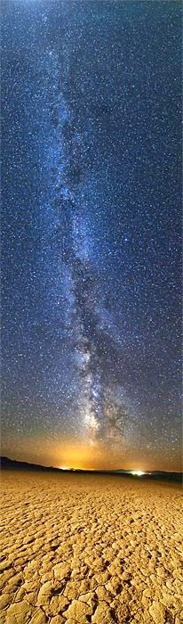The Milky Way over the two small towns of Gerlach and Empire