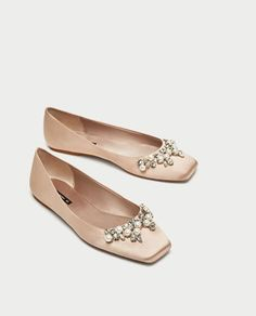 BEJEWELLED SATIN BALLERINAS-View all-SHOES-WOMAN | ZARA Hungary