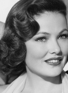 Gene Tierney: In my humble opinion one of the best complexions of the 20th Century, and that's with minimal makeup.