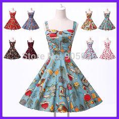 Vintage Dress Material:Cotton* Vintage Dress Color