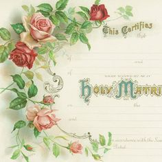 victorian blank templates victorian marriage certificate pink roses