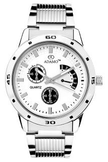 Adamo White Dial Men's Wrist Watch AD105 #Adamo #White #Dial #Men's #Wrist #Watch #AD105 Price:INR 995.00 -------------------------------------- Sale:INR 399.00  --------------------------------------