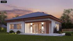 Niewątpliwą zaletą tego projektu domu jest niski koszt budowy oraz późniejsza eksploatacja. Średni koszt wybudowania takiego domu wynosi niecałe 225 tys. zł. Fot. Z500 Antalya, Gazebo, Shed, Villa, Outdoor Structures, Mansions, Architecture, House Styles, Outdoor Decor