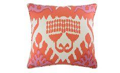 Coral Kazak Ikat Pillow | Nest and Burrow