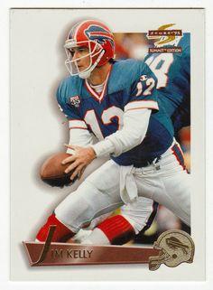 Jim Kelly # 22 - 1995 Score Summit Football Football Cards, Football Team, Baseball Cards, Quarterback Rating, Jim Kelly, Back In The Day, Legends, Mint, Sports