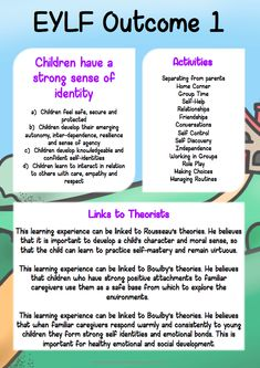 Posters / Signs :: EYLF Theorist Pack Source by suewillavoys Play Based Learning, Learning Through Play, Preschool Learning, Early Learning, Preschool Lessons, Teaching Kindergarten, Teaching Kids, Early Education, Early Childhood Education