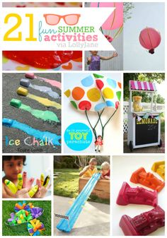 """21 fun summer boredom busters you can do with the kids this summer. Beat the """"mom I'm bored"""" with these fun activities for kids! Craft Projects For Kids, Easy Crafts For Kids, Summer Crafts, Art Projects, Summer Fun For Kids, Fun Snacks For Kids, Summer Daycare, Kid Snacks, Summer Activities For Kids"""
