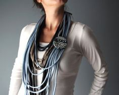 STATEMENT NECKLACE t-shirt infinity scarf necklace by Charisana