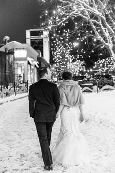Photography : Danielle DeFiore Read More on SMP: http://www.stylemepretty.com/2015/10/30/classic-winter-church-wedding/ #hitched #winter #wedding #snow #engaged #married