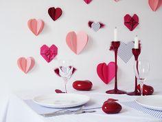 Diy : un mur de coeurs en papier pour la St Valentin