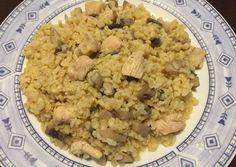 Gombás-csirkés bulgur Oatmeal, Grains, Rice, Breakfast, Food, Bulgur, The Oatmeal, Morning Coffee, Rolled Oats
