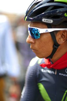 Nairo Quintana of Colombia riding for Movistar Team talks with the media during stage seven of the 2017 Le Tour de France a 2135km stage from Troyes...