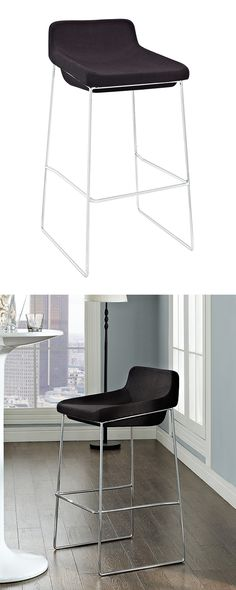 Though its profile is sleek and modern, you can picture the Tolstoy Bar Stool in a space devoted to transitional décor. It's a charming seat that's also exceptionally comfortable. Lounge in a relaxed m...  Find the Tolstoy Bar Stool, as seen in the  A Cool & Comfortable Loft in the Mission Collection at http://dotandbo.com/collections/a-cool-and-comfortable-loft-in-the-mission?utm_source=pinterest&utm_medium=organic&db_sku=122989