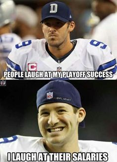 Lol im not the biggest romo fan but i got his back he does wear a Dallas cowboys Jersey after all. This one toooo funny!