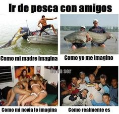 Funny Fishing Quotes – Go fishing with my friends. Fishing Quotes, Fishing Humor, Going Fishing, Fly Fishing, Funny Cute, Hilarious, Humor Mexicano, Humor Grafico, I Hate My Life