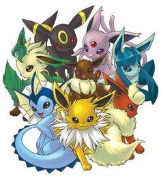 umbreon, espeon, leafeon, eevee, glaceon, vaporeon,jolteon, flareon, pokemon