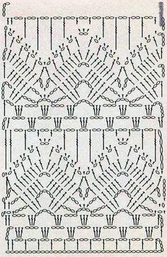 Fabulous Crochet a Little Black Crochet Dress Ideas. Georgeous Crochet a Little Black Crochet Dress Ideas. Crochet Stitches Chart, Crochet Motifs, Crochet Borders, Crochet Diagram, Filet Crochet, Crochet Lace, Simple Crochet, Russian Crochet, Crochet Tunic