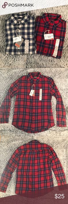 NWT lot of 2 St. John's Bay flannel shirts NWT lot of 2 button down flannel shirts! St. John's Bay Shirts Casual Button Down Shirts