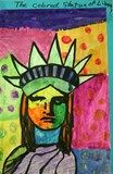 Fourth graders learned all about the life and art of Peter Max in their Meet the Artist class this month. In celebration of our patriotic assembly we created some patriotic art in the style of Peter Max. He paints the statue of liberty every year on the fourth of July. The students did a great job using color and pattern to create their own unique liberty head.