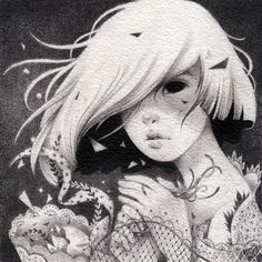 ORIGINAL DRAWING: Kouko, by May Ann Licudine aka Mall. More at http://shardula.bigcartel.com/