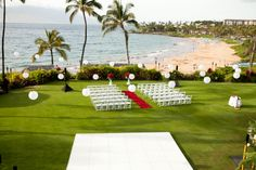 Beachfront wedding. Destination wedding at the Four Seasons Resort Maui in Wailea, Hawaii. Photo by Maui wedding photographer, Mike Adrian of Mike Adrian Photography. www.mikeadrian.com