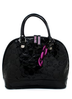 Embossed patent hello kitty bag $78.00. Add this to your girl's back to school list...