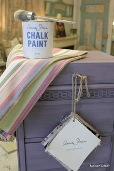 A lovely small table finished in Emile Chalk Paint® decorative paint by Annie Sloan | By Maison Decor