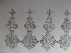 Kasuti Embroidery, Hand Work Embroidery, Types Of Embroidery, Indian Embroidery, Cross Stitch Embroidery, Machine Embroidery, Embroidery Neck Designs, Embroidery Patterns, Kutch Work Designs