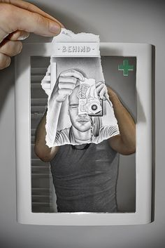 Pencil vs Camera by Ben Heine The Technical competence required for this is alarming. Getting the reflection out of the mirrors so it all matches up must have been very difficult.