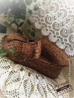 Мои плетёнки и небольшой мк  рабочего процесса ,по плетению салфетницы-улитки!