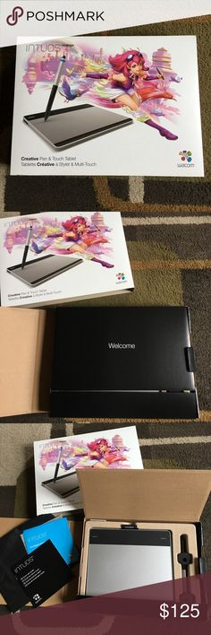 Wacom creative pen & touch tablet✍️ Draw animations on your computer just as naturally as you would do with a pen or brush on paper✍️ kit is complete no parts missing✍️ only used a couple of times✍️ Wacom Accessories