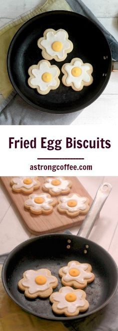 Easy to make fried egg biscuits perfect for Easter