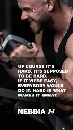 """""""Of course it's hard. It's supposed to be hard. If it were easy, everybody would do it. Hard is what makes it great.""""   #fitnessmotivation #motivation #nebbia #hardwork #workout Mental Health Resources, Fitness Motivation Quotes, Achieve Your Goals, Fun Workouts, Work Hard, Motivational Quotes, Marketing, How To Make, Easy"""