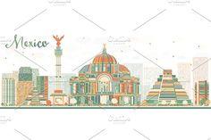 Abstract Mexico skyline by Igor Sorokin on @Graphicsauthor