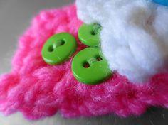 Newborn Baby Flowers in Neon Crochet Headband by PurpleKissCompany, $7.99