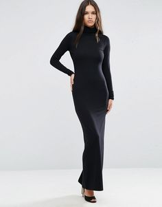 ASOS | ASOS Bodycon Maxi Dress With Turtleneck