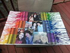 Crayon melted wax, befriend gift ideas, diy, pictures, anniversary gift