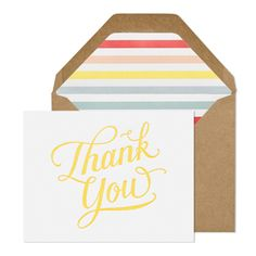 Sugar Paper Thank You Card via Oh So Beautiful Paper