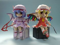 Paperized: Touhou Project: Remilia Scarlet and Flandre Scarle...
