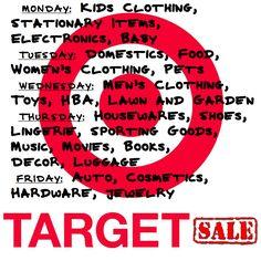 Target Sale Schedule