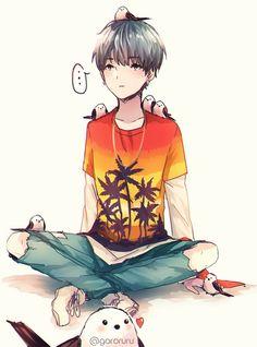 Yoongi in manga-style is amazing!